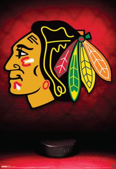 Chicago Blackhawks Logo Sports Poster Posters at AllPosters.com