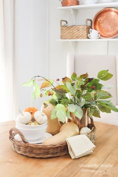 Seasonal Simplicity Fall Home Tour - Sincerely, Marie Designs