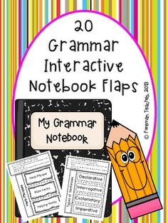 You will find: interactive notebook flaps with directions identical interactive notebook flaps without the directions *definitions and/or examples for each flap that students may glue into their books blank flaps so that you are able to make your own Teaching Language Arts, Teaching Writing, Teaching Themes, Too Cool For School, School Stuff, Middle School, Reading Notebooks, Interactive Student Notebooks, Prepositional Phrases
