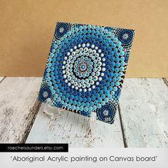 Dot Painting Aboriginal Art small Original by RaechelSaunders, $20.00