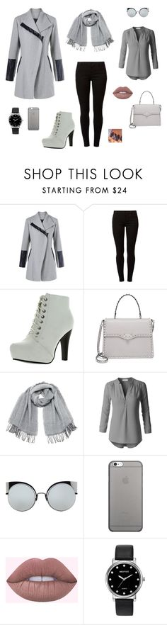 """""""Grey day!"""" by mireille-a ❤ liked on Polyvore featuring Dorothy Perkins, Top Moda, Valentino, Vero Moda, Fendi, Native Union, Mestige and grey"""