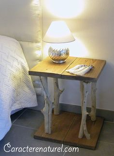 Pallet side table and some innovative pallet projects