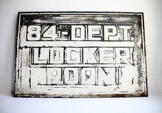 Rare Vintage Locker Room Rustic Painted Steel by ChapsAndRascal, $149.00