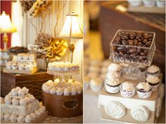 mini cupcakes, dessert display, rustic spring blue and green wedding, Lauryn Galloway Photography