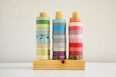 Washi Tape Organizer - this could be a diy project for ribbon & tape, too