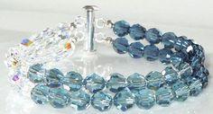 A personal favorite from my Etsy shop https://www.etsy.com/listing/195949391/swarovski-2-strand-blue-ombre-bracelet