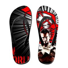 SkipyMan CM PUNK Womens Flip-flops Beach Slippers -- Learn more by visiting the image link.