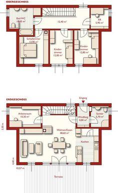 Grundrisse - 05 - Cubus - Unsere Häuser im Überblick. Finden Sie den Haustyp der zu Ihnen passt. - Fertighäuser - Fertighaus von WOLF Haus Deutschland, Fertighaus, Hausbau, Energiesparhaus, Fertighaushersteller