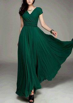 Ladies Summer Short Sleeve Dress Woman Solid Vintage Maxi Bohemia Long Dress Slim Waist Plus Size S-3XL Dress For Women