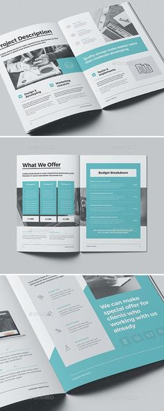 Proposal Inspiration InDesign Business Proposal Templates is part of Creative proposals, Busines Booklet Design Layout, Page Layout Design, Graphic Design Brochure, Magazine Layout Design, Brochure Design Inspiration, Web Design, Book Design Templates, Company Brochure Design, Brochure Cover Design