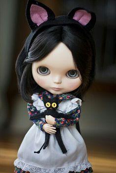 She looks pretty creepy but I love her kitten dolly