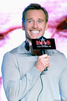 Michael Fassbender attending the press conference for Assassin's Creed,' Beijing, 02/20/17