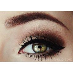 Smokey Eye Makeup For Hazel Eyes ❤ liked on Polyvore featuring beauty products, makeup, eye makeup and eye skin care