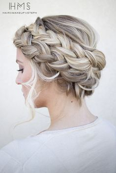 50 cute and trendy updos for long hair hair hair, hair style Braided Crown Hairstyles, Box Braids Hairstyles, Braided Updo, Updo Hairstyle, French Hairstyles, Classic Hairstyles, Elegant Hairstyles, Homecoming Hairstyles, Wedding Hairstyles