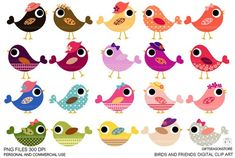 Image of an original illustration done in digital graphic drawing. You will receive 20 Birds High) PNG and JPEG in Zip file. Image Clipart, Cute Clipart, Pretty Drawings, Beautiful Drawings, Seasonal Image, Bullet Journal Writing, Clip Art, Adult Coloring, Colouring