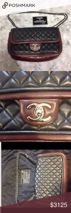 Spotted while shopping on Poshmark:  Authentic Chanel Two-Toned Flap  ! #poshmark #fashion #shopping #style #CHANEL #Handbags