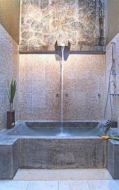 impressive poured concrete tub