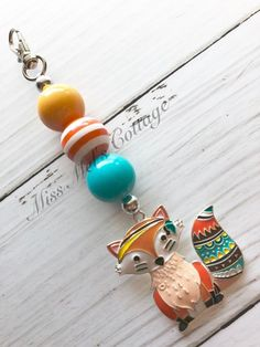 Sweet Baby Fox Chunky Beads Zipper Bag Charm/Backpack/Purse/Diaper bag by MissMelsCottage on Etsy Chunky Bead Necklaces, Chunky Beads, Diy Jewelry Making Tools, Princess Crafts, Diffuser Jewelry, Diy Keychain, Crafts To Make And Sell, Homemade Jewelry, Bijoux Diy
