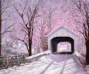 snowy covered bridge