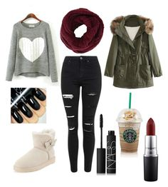 """""""At the mall"""" by mary-mara on Polyvore featuring Topshop, UGG Australia, WithChic, MAC Cosmetics, NARS Cosmetics and BCBGMAXAZRIA"""