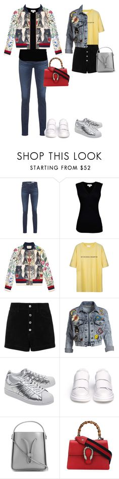 """""""Annoyed"""" by air1988 ❤ liked on Polyvore featuring AG Adriano Goldschmied, Velvet by Graham & Spencer, Gucci, rag & bone/JEAN, Alice + Olivia, adidas Originals, Alexander McQueen and 3.1 Phillip Lim"""