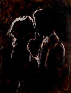 Original Love Painting by Claudia Barbu Painting Love Couple, Kiss Painting, Art Love Couple, Love Art, Paar Illustration, Beautiful Dark Art, Romance Art, Art Brut, Art Hoe