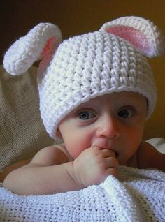What if Lennon is an Easter baby?  He would need an Easter Hat. Once again, I need to learn to chrochet!