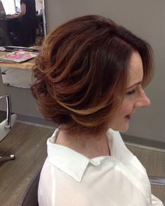 The perfect soft highlights to finish of this rich ready brown bob