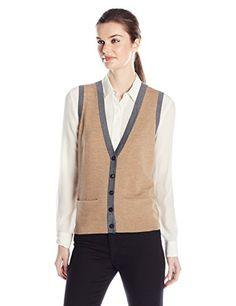 a46e06d6c9fd29 Pendleton Women s Color Block Vest at Amazon Women s Clothing store   Pendleton SweaterWelt PocketSweaters For ...