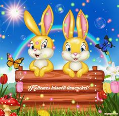 Kellemes húsvéti ünnepeket! - Megaport Media Share Pictures, Animated Gifs, Illustrations And Posters, Cute Baby Animals, Happy Easter, Tweety, Princess Peach, Cute Babies, Pikachu
