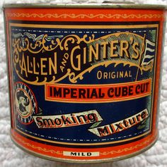 Allen & Ginter's Smoking Mixture tobacco tin