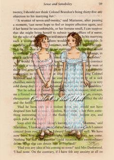 #SenseandSensibility  Elinor and Marianne Take In the View by #CastleOnTheHill, $55.00 #JaneAusten #Regency ~Art
