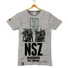 Koszulka patriotyczna Narodowe Siły Zbrojne - Kolekcja Unikalna - odzież patriotyczna, koszulki męskie Red is Bad