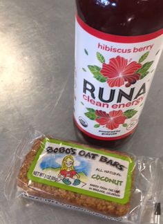Our favorite Runa tea paired with a Coconut Bobo's Oat Bar.