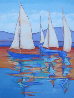 """""""Blue Group Reflections"""". Sold to an art lover.  Prints available."""