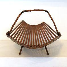 corbeille en bambou pliable ref150614