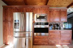 Kitchens - Pedersen Cabinet Works Ltd. Bathroom Tub Shower, Kitchen Cabinets, Kitchen Appliances, French Door Refrigerator, French Doors, Kitchens, Home Decor, Kitchen Cupboards, Diy Kitchen Appliances