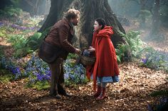 Disney's Into the Woods: James Corden as the Baker and Lilla Crawford as Red Riding Hood