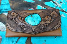 Carved Turquoise Wallet