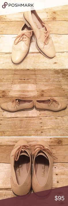 Salvatore Ferragamo Oxford Flats Size: 6. Excellent condition. Wingtip Oxfords. Vintage. Salvatore Ferragamo Shoes Flats & Loafers