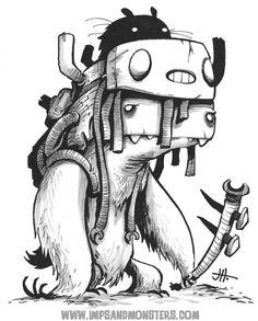 Sketch #226. ©2014 Justin Hillgrove. http://www.impsandmonsters.com