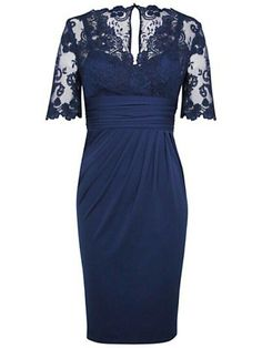 Lace Sleeves Navy Blue Mother Of The Bride Dresses Short Cheap Knee Length…