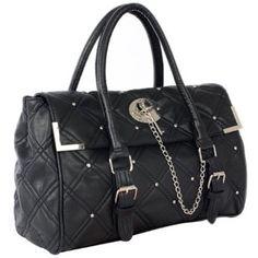 DIA Classic Black Quilted Studded Designer Inspired Satchel Handbag Tote Hobo Bag Purse --- http://www.amazon.com/Classic-Quilted-Studded-Designer-Inspired/dp/B005EIMKC4/ref=sr_1_22/?tag=telexintertel-20