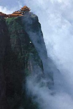 Mount Emei in the Sichuan province, China. One of the Four Sacred Buddhist Mountains of China.