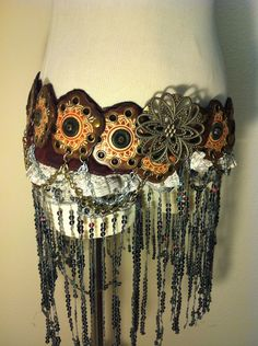 Leather and Chain Belly Dance Belt. $65.00, via Etsy.