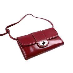 Mulberry Clutch Daria Patent Leather Bag Red b2e69a0c5c10a