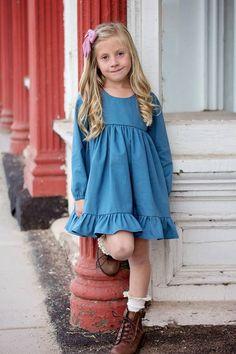 Girl's Be Curious Dress Pattern - Ellie and Mac, Digital (PDF) Sewing Patterns | USA, Canada, UK, Australia