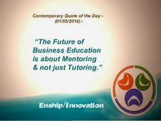 Contemporary Quote of the Day - (01/05/2014):- by Enship/Innovation via slideshare