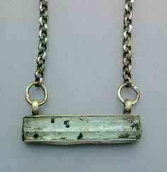 Natural Aquamarine Crystal Necklace