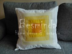 #handmade #solar flare #cushion #moment #yellow #orange #White #home #decoration #solar